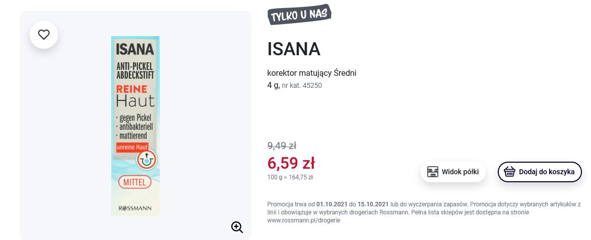 Screenshot 2021-10-14 at 09-38-46 ISANA, korektor matujący Średni, 4 g Drogeria Rossmann pl