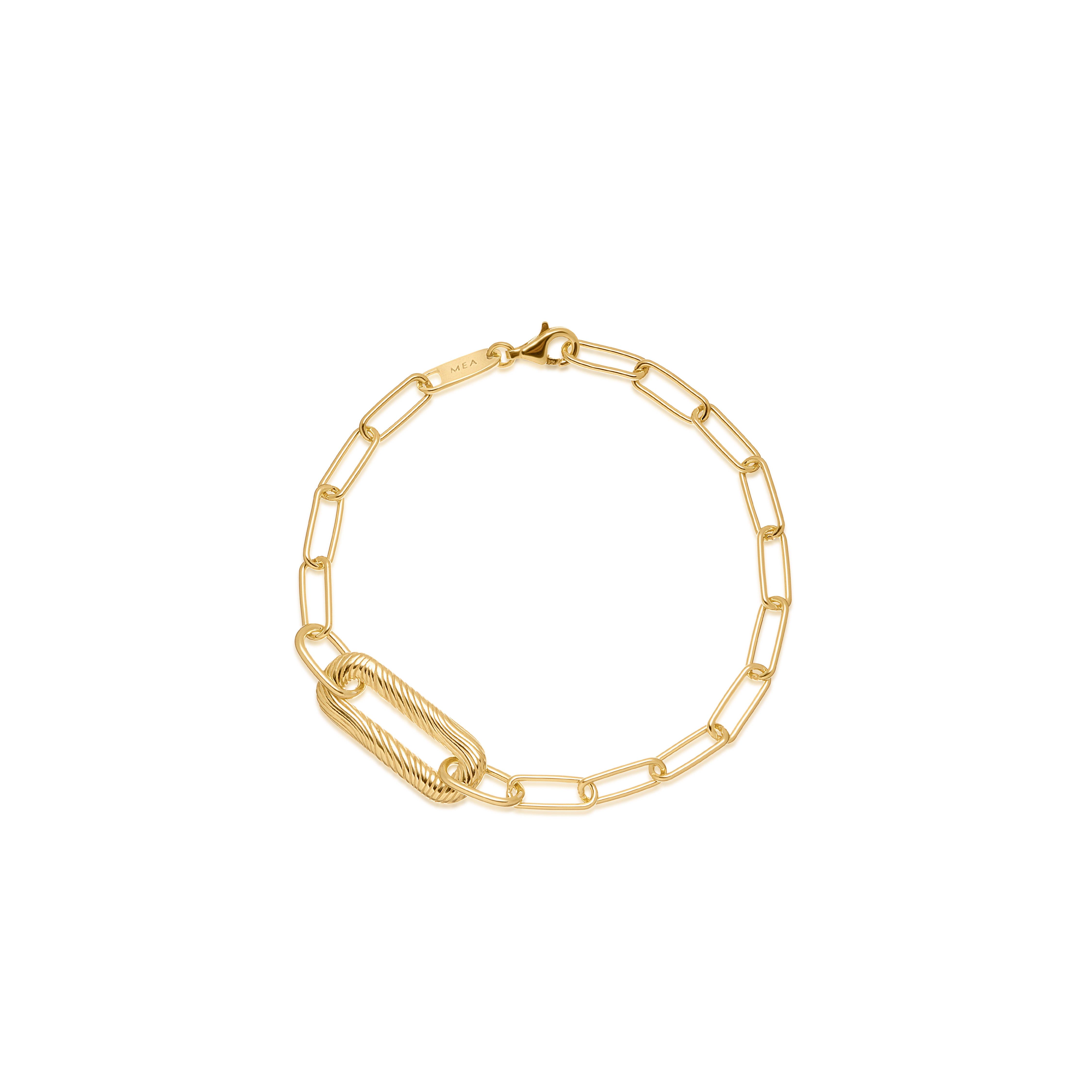 W.KRUK bransoleta MEA, srebro złocone, cena 379 zł